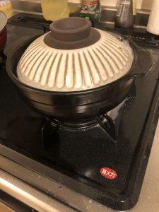 土鍋 吹きこぼれ