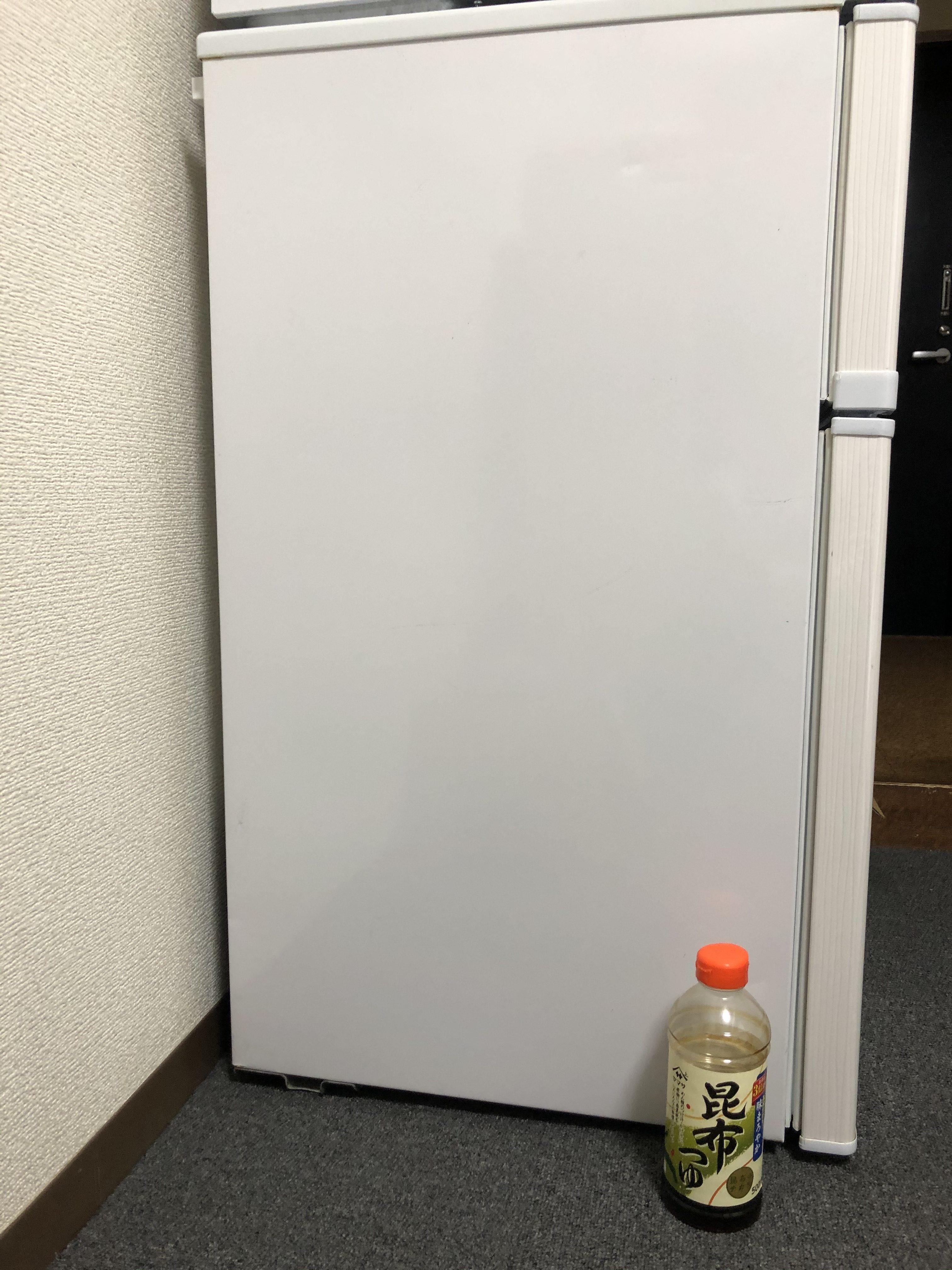 1人暮らしの冷蔵庫と調味料