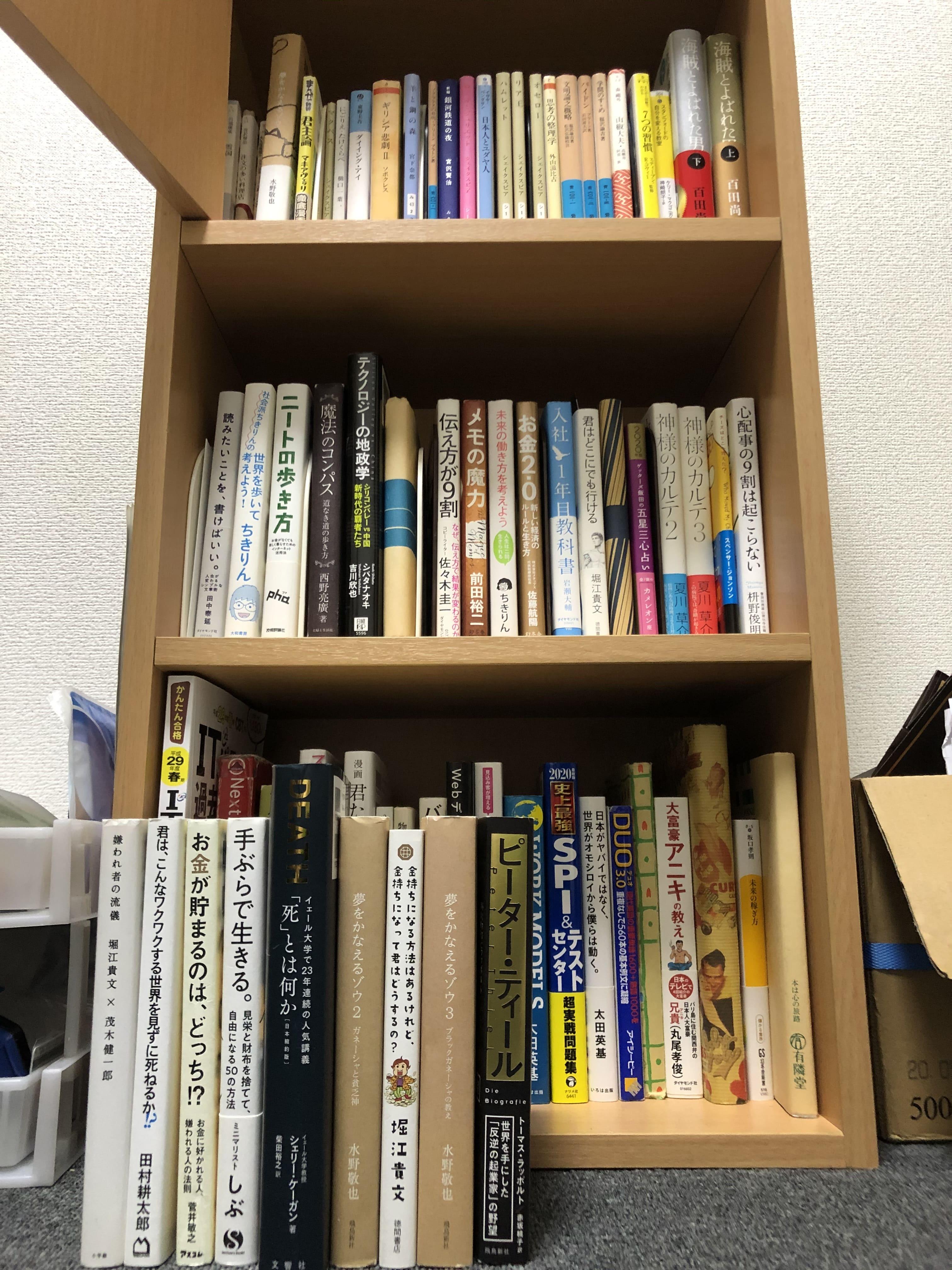 大量の本たち
